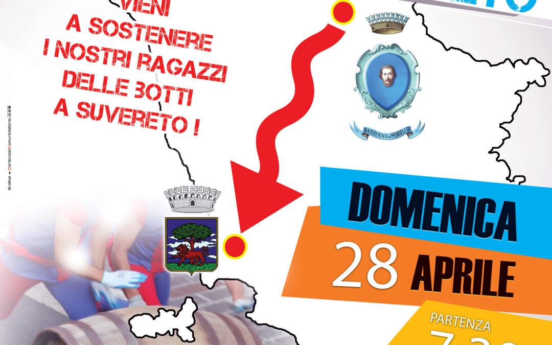 Cantà Maggio moves to Suvereto! Il 28 Aprile Barberino partecipa al Palio delle botti di Santa Croce