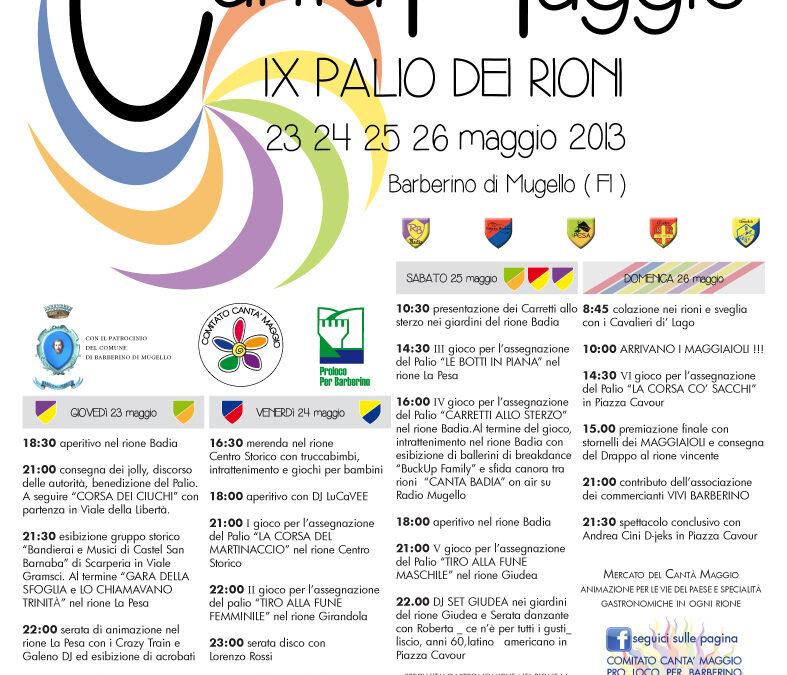 Quattro giorni di festa a Barberino con il Cantà Maggio 2013