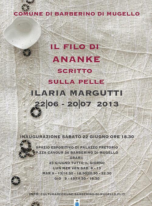 """""""Il filo di Ananke. Scritto sulla pelle"""". Il 22 Giugno si inaugura la personale di Ilaria Margutti"""