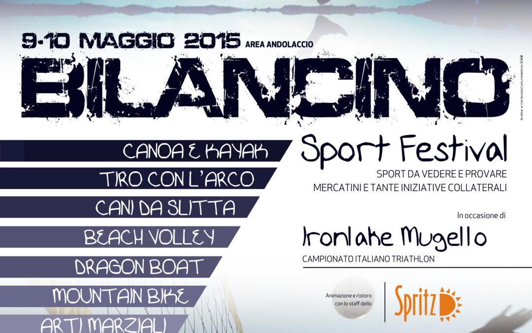 Tutto pronto per il Bilancino Sport Festival all'Area Andolaccio. 9 e 10 Maggio Lago di Bilancino