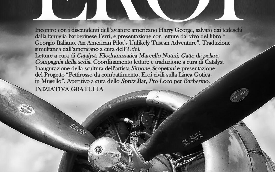 Incontro con i discendenti dell'aviatore amenricano Harry George salvato durante la seconda Guerra mondiale da una famiglia barberinese